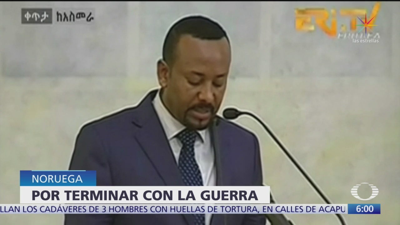 Otorgan Premio Nobel de la Paz 2019 al Primer Ministro de Etiopia, Abiy Ahmed