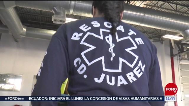 FOTO: Paramédicos denuncian amenazas crimen organizado Chihuahua