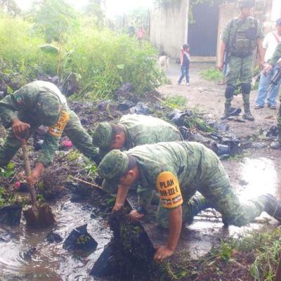 Aplican Plan DN-III-E por fuertes lluvias en Morelos