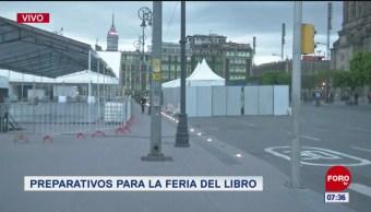Preparan la Feria Internacional del Libro en el Zócalo capitalino