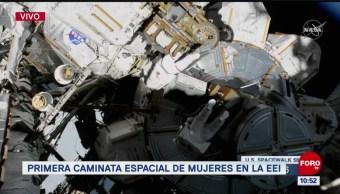 Primera caminata espacial de mujeres en la EEI