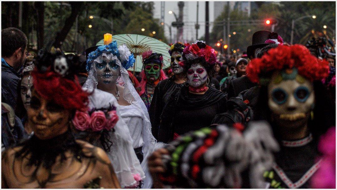 Foto: Miles de personas participaron en la Mega Procesión de Catrinas, 26 de octubre de 2019 (FOTO: MARIO JASSO /CUARTOSCURO.COM)