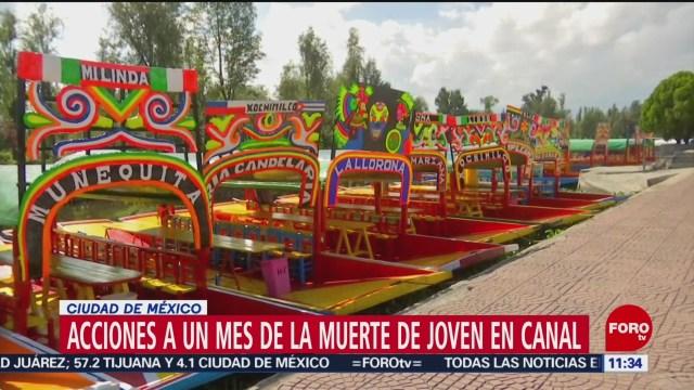 Proponen acciones de seguridad tras la muerte de joven en canal de Xochimilco