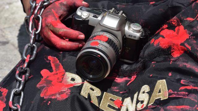 Protesta de periodistas en Toluca