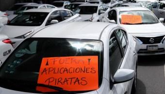 Protesta de taxistas en la CDMX