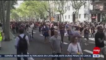Foto: Protestan Condenas Independentistas España 14 Octubre 2019