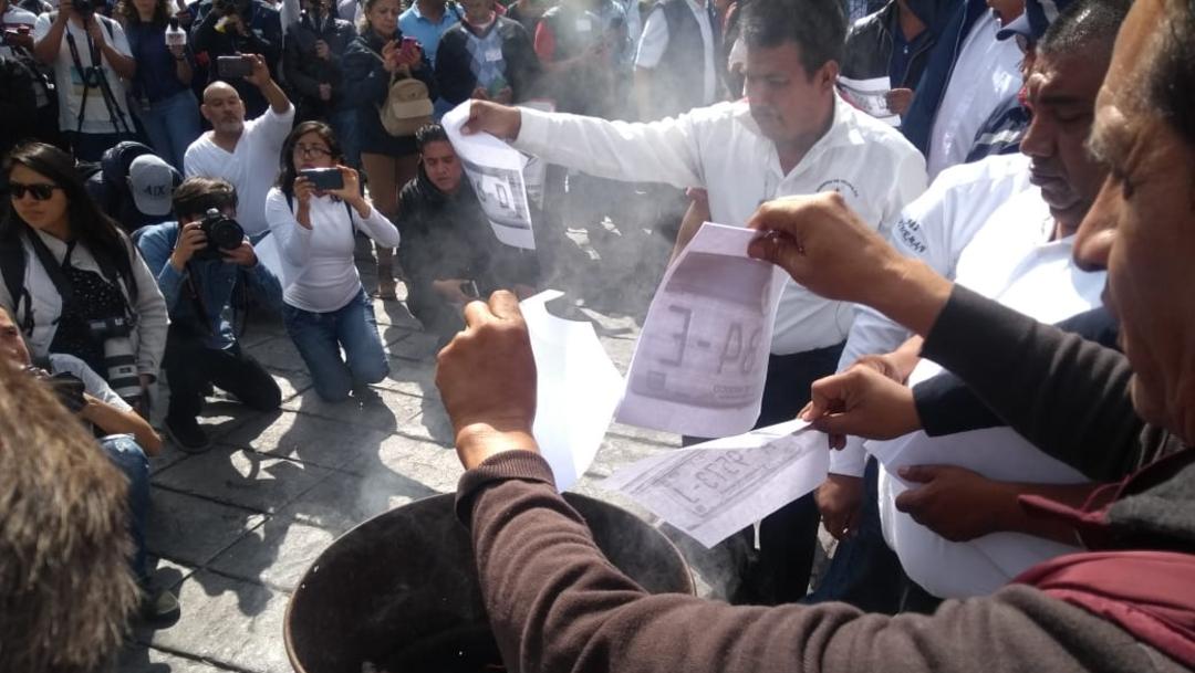 Foto: El artículo 6 de la Ley de Inversión Extranjera reserva en exclusiva la prestación del transporte público de pasajeros a los mexicanos, por lo que estas empresas extranjeras están violando el marco legal vigente, 7 de octubre de 2019 (S. Servín)