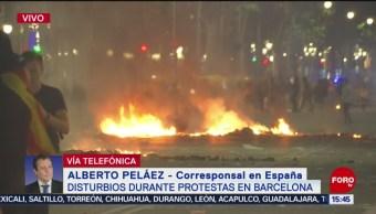 FOTO: Protestas Barcelona continuarán tras disturbios
