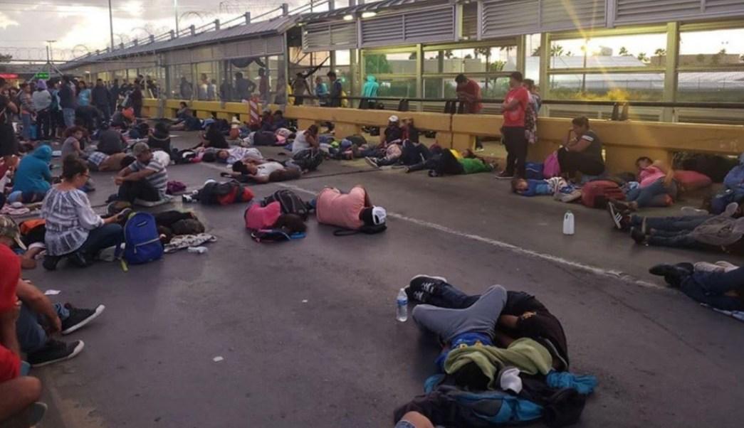 Foto: Cierran el puente internacional Matamoros-Brownsville tras intento de migrantes por cruzar hacia EU, 10 octubre 2019