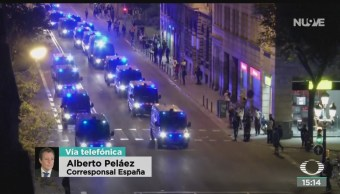 FOTO: Quinto Día Disturbios Enfrentamientos Barcelona,