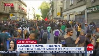 FOTO: Reportan Dos Personas Heridas Durante Marcha 2 De Octubre