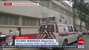 FOTO:Reportan movilización de equipos de emergencia por olor fétido en Azcapotzalco, 25 octubre 2019