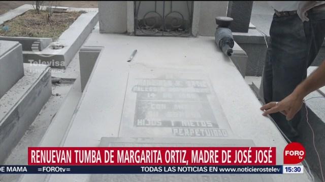 FOTO: Restauran Tumba Margarita Ortiz Mamá José José