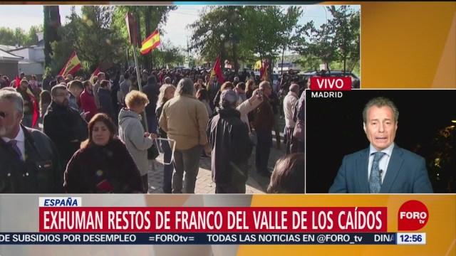 Restos de Franco llegan a cementerio de Mingorrubio