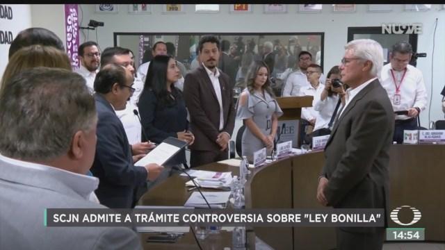 FOTO: SCJN admite a trámite controversia sobre 'Ley Bonilla', 28 octubre 2019