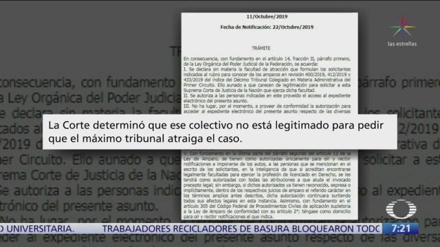 SCJN rechaza atraer amparos contra construcción de Santa Lucía