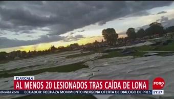 Foto: Video Cae Lona 20 Lesionados Tlaxcala 11 Octubre 2019