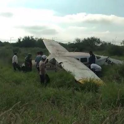 Se desploma avioneta en Apodaca, Nuevo León