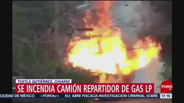FOTO: Se incendia y explota en Chiapas pipa que transportaba Gas LP, 26 octubre 2019