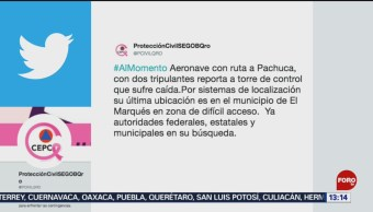 FOTO: Se investiga caída de aeronave en el estado de Querétaro,20 octubre 2019