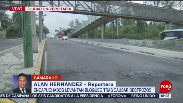 Foto: Insurgentes Sur Reestablece Circulación Tras Bloqueo 24 Octubre 2019