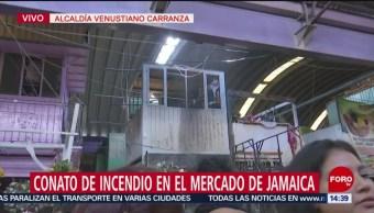 FOTO: Conato Incendio Mercado Jamaica