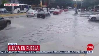 FOTO: Se registra intensa lluvia Puebla