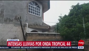 FOTO: Se registran fuertes lluvias en Campeche, 13 octubre 2019