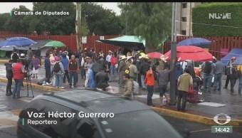 FOTO: Se retrasa sesión Cámara Diputados por plantón campesinos