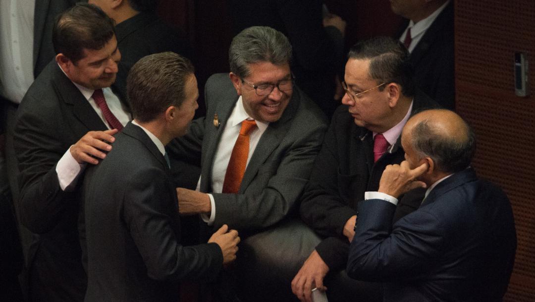 Ricardo Monreal, este miércoles, en el Senado de la Republica, 02 octubre del 2019 (ANDREA MURCIA /CUARTOSCURO.COM)