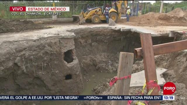 FOTO: Socavón Lleva Más De Seis Meses Sin Repararse Edomex
