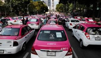 Foto: Bloqueos de taxistas, 7 de octubre de 2019, Ciudad de México