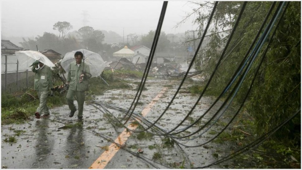Foto: Miles de hogares de Japón se quedaron sin electricidad por el tifón Hagibis, 12 de octubre de 2019 (EFE)