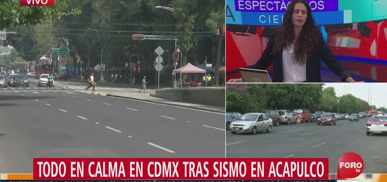 FOTO: Todo en calma en la Ciudad de México tras sismo en Acapulco, 5 octubre 2019