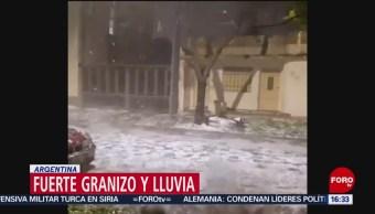 FOTO: Tormenta granizo lluvia azota Argentina