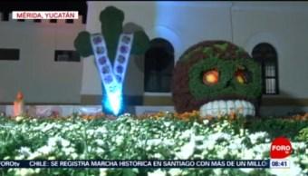 FOTO: Tradición maya para venerar a los muertos en Mérida, 26 octubre 2019