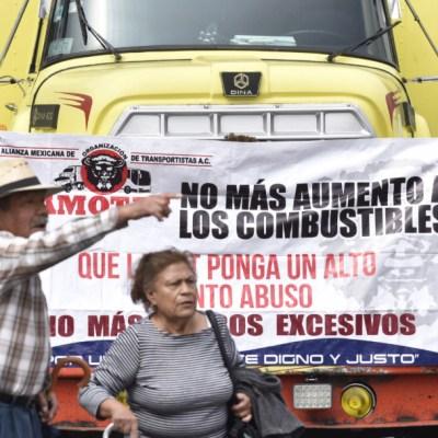 Transportistas se concentran afuera de Cámara de Diputados; no hay bloqueos
