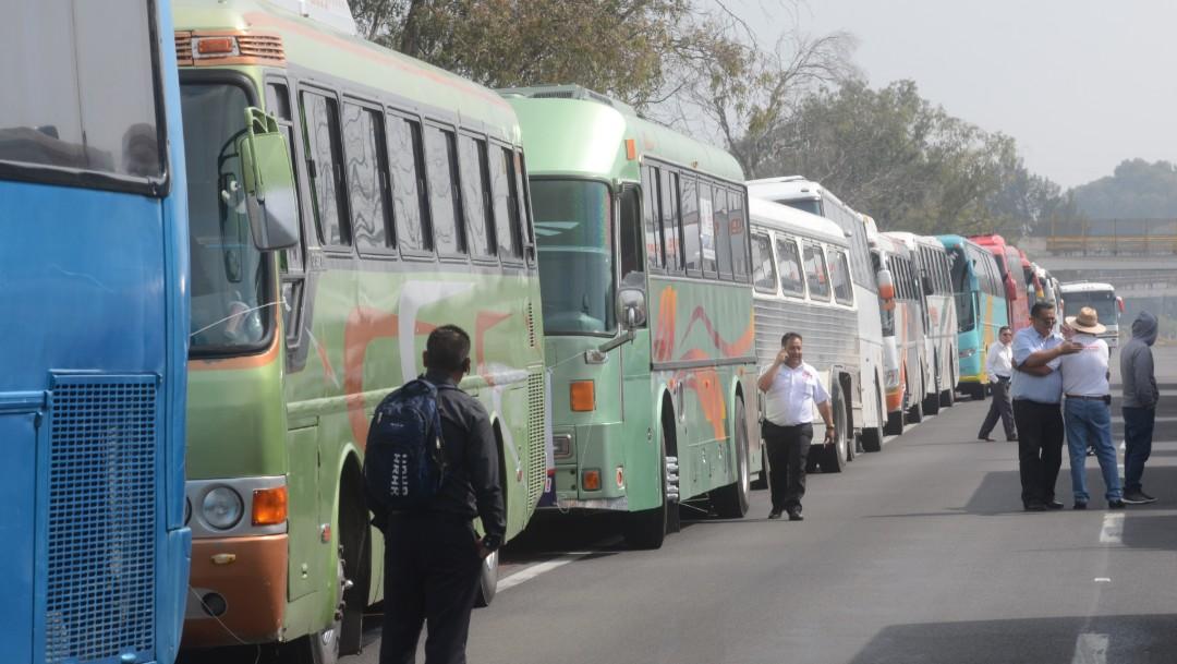 FOTO Transportistas detienen bloqueos en CDMX