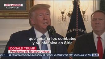 Trump anuncia alto el fuego permanente en Siria