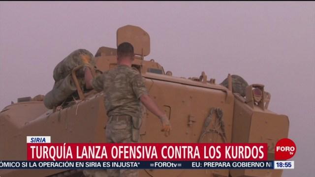 FOTO: Turquía lanza ofensiva contra kurdos Siria