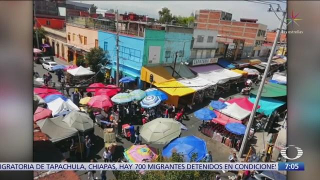 Vendedores ambulantes retoman calles en Tepito