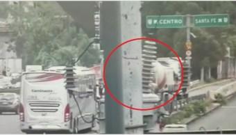 Foto: Captan en video el accidente múltiple en Santa Fe, 8 de octubre de 2019 (Foro TV)