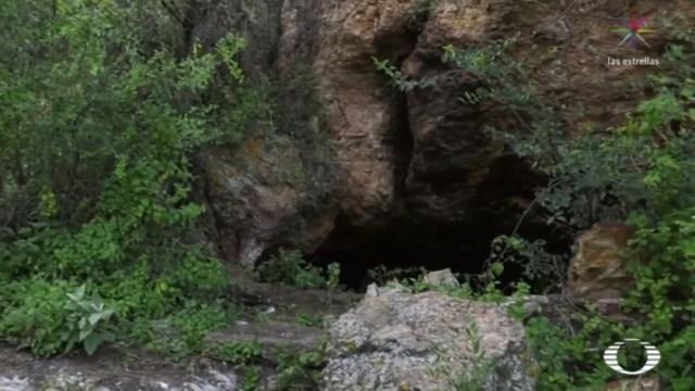 IMAGEN Desde las entrañas de 'La Cueva', escondite de 'El Marro'. (Noticieros Televisa)