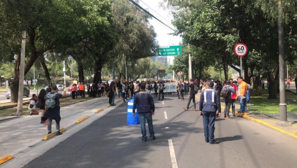 marcha unam bloqueo insurgentes