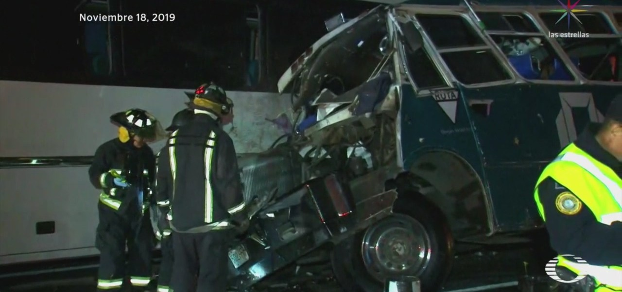 Foto: Accidente México-Pachuca Imprudencia Chofer Autobus 19 Noviembre 2019