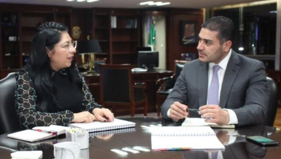 Foto: El secretario de Seguridad Omar García Harfuch, y su similar mexiquense, Maribel Cervantes Guerrero, sostuvieron un encuentro en el que abordaron temas de participación y coordinación en beneficio de la población