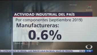 Actividad industrial no creció en septiembre, dice le INEGI
