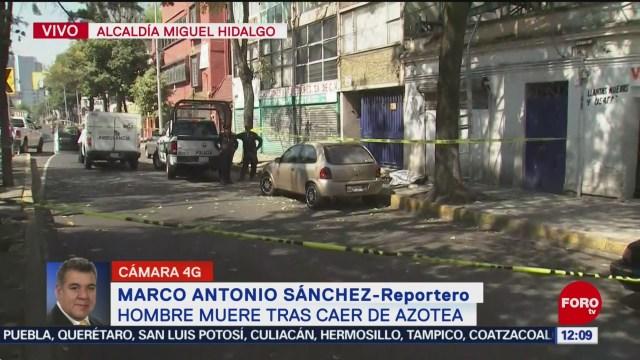 Adulto mayor muere al caer de azotea en alcaldía Miguel Hidalgo, CDMX
