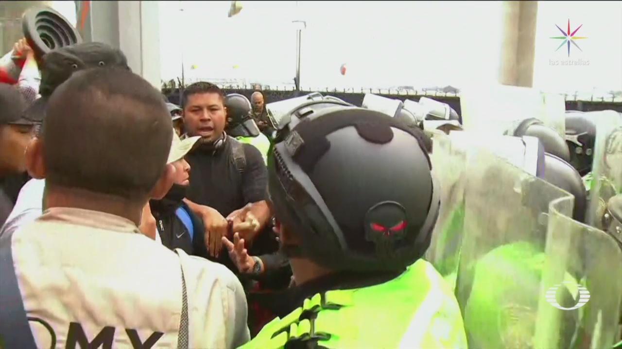 FOTO: Al menos 32 policías capitalinos lesionados tras manifestaciones en el AICM, 12 noviembre 2019