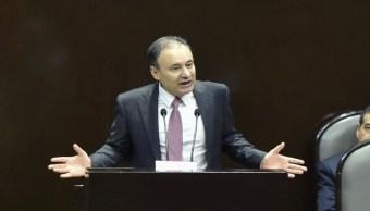 FOTO: Alfonso Durazo compareció ante el Pleno de la Cámara de Diputados.